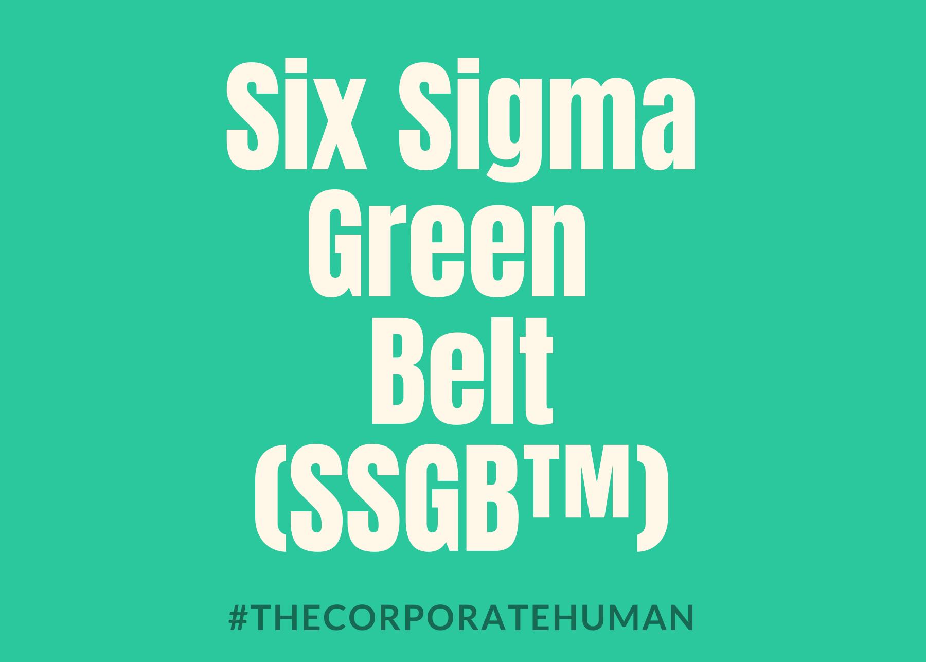 Six Sigma Green Belt (SSGB™)
